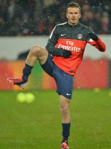 David Beckham dimanche 24 février 2013 avec le PSG