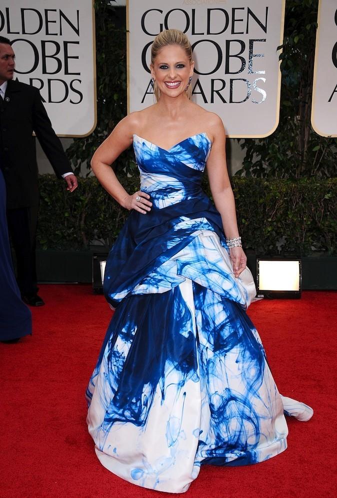 Sarah Michelle Gellar et sa robe effet océan