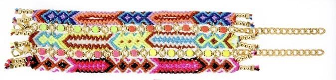 Bracelet de perles et chaînes, Chanael K., 150€