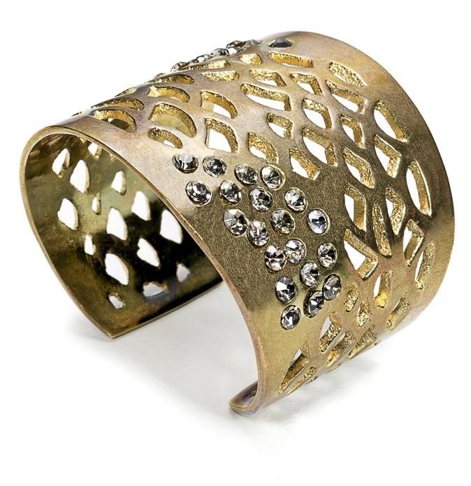 Bracelet en métal et strass, Salsa, 25€