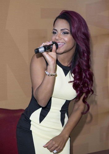 Le bordeaux : Christina Milian !