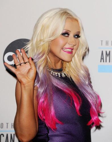 Mauve addict' : Christina Aguilera !