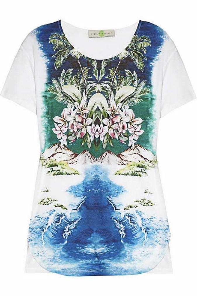 3. Hypno-tropiques : T-shirt imprimé hawaiien, Stella McCartney. 185 €.