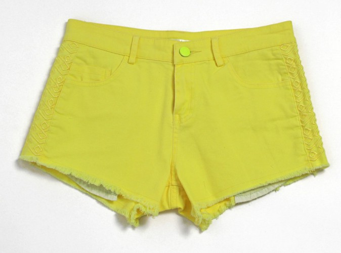 Short en denim jaune, Sunshine, 25€