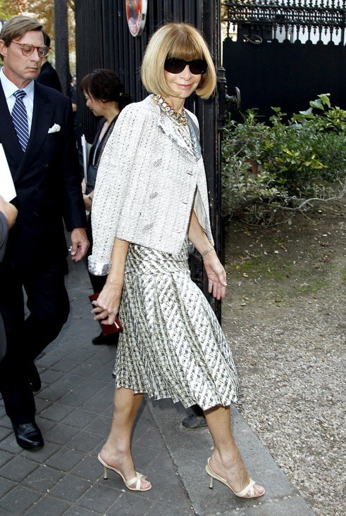 Anna Wintour au défilé Nina Ricci printemps été 2012