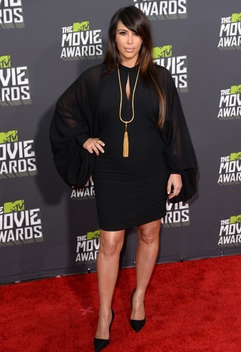 Kim Kardashian, le 14 avril 2013 aux MTV Movie Awards.