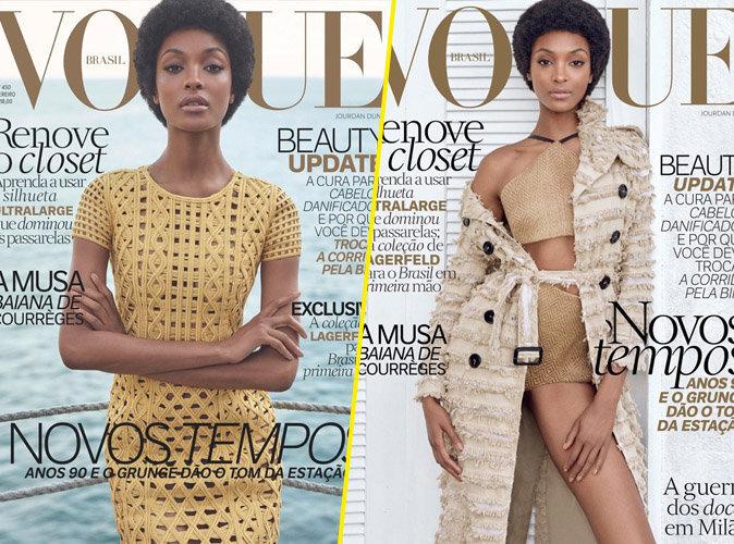 Jourdan Dunn en couverture de Vogue Brésil