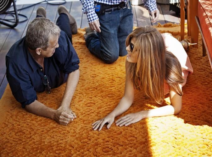 Eva Mendes lors de la séance photo