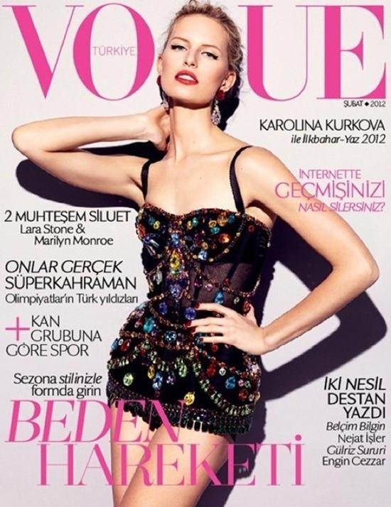 Karolina Kurkova en couverture du Vogue Turquie !