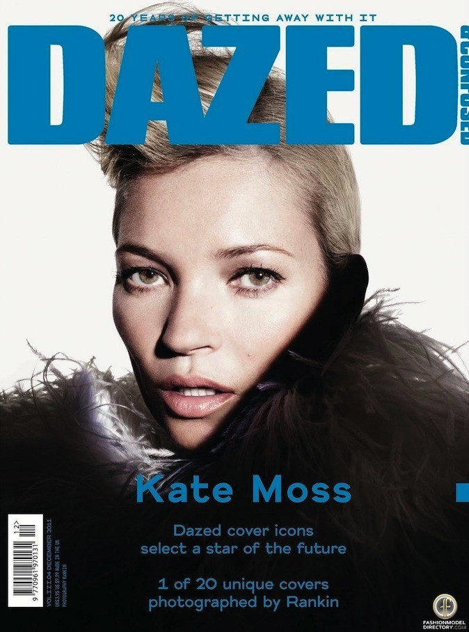 Kate Moss pour Dazed and Confused