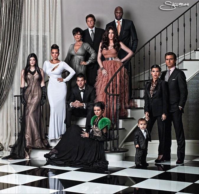 La carte de voeux de la famille Kardashian 2010, façon Dynastie !
