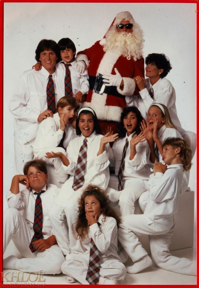 La carte de voeux de la famille Kardashian dans les années 1980, encore et toujours du blanc !