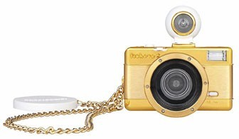 Appareil photo Fisheye Gold Edition, Lomography chez L'Avant Gardiste. 85 €.