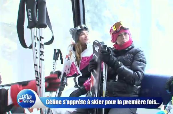 Gaëlle et Céline dans Les Ch'tis font du ski