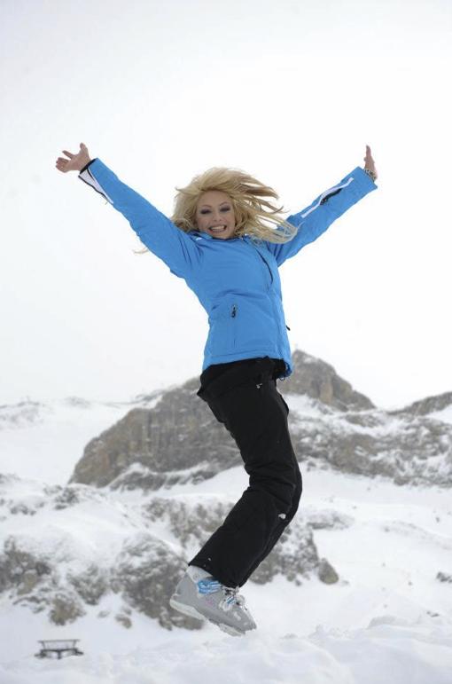 Tressia dans Les Ch'tis font du ski