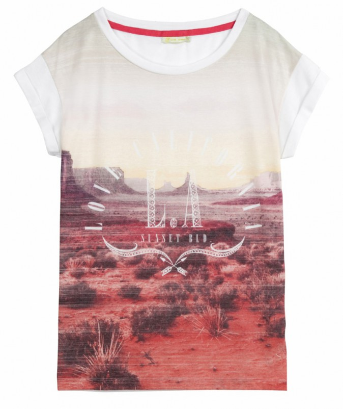 T-shirt imprimé désert, Gémo, 9,99 €.