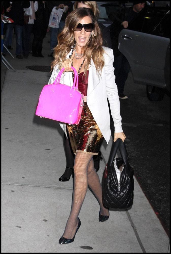Le sac rose bonbon de Sarah Jessica Parker !