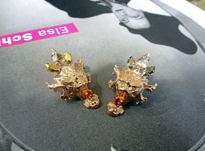 Boucles d'oreilles dragon. Crezus. 85€