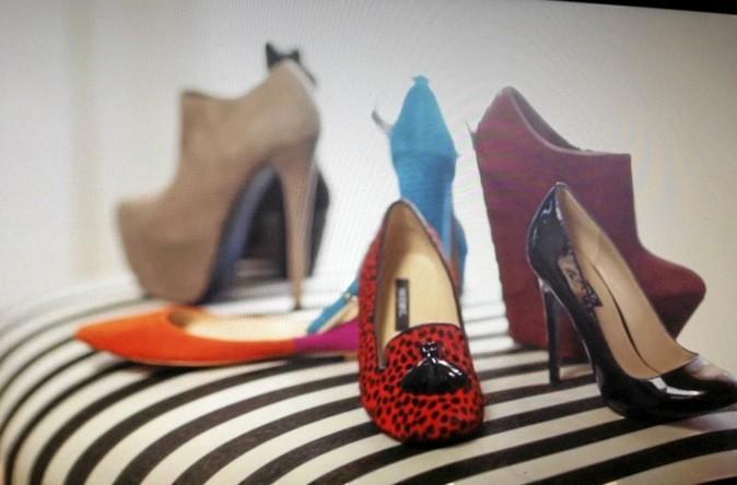 Chaussures léopard rouges, créées by herself pour shoesmint.com. 95€