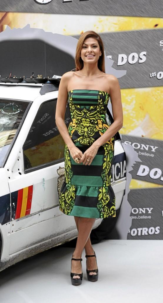 La robe tropicale d'Eva Mendes