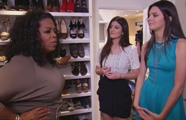 Oprah et les dernières du clan Kardashian-Jenner dans la fameuse penderie