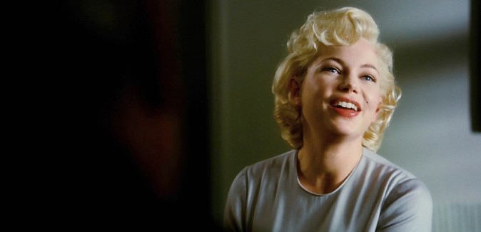 Michelle Williams en Marilyn Monroe dans le film My week with Marilyn