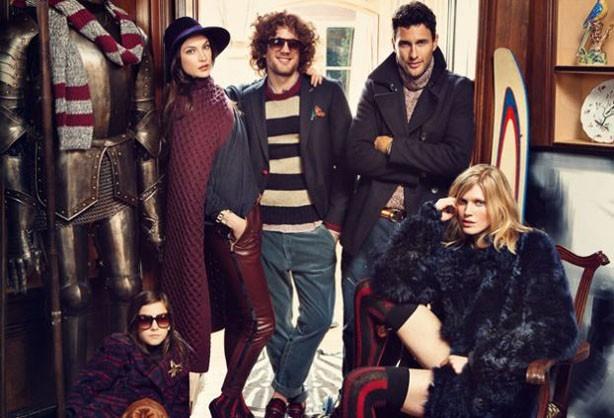Toni Garrn pour Tommy Hilfiger campagne automne/hiver 2012