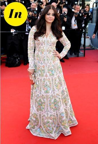 Aishwarya Rai en Abu Jani Sandeep Khosla Couture en 2013 à Cannes.