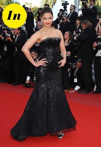 Aishwarya Rai en Armani Privé en 2010 à Cannes.