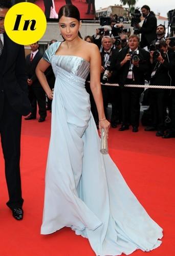 Aishwarya Rai en Elie Saab en 2009 à Cannes.