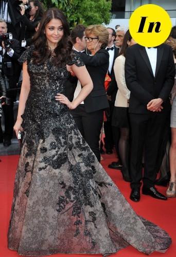 Aishwarya Rai en Elie Saab en 2013 à Cannes.