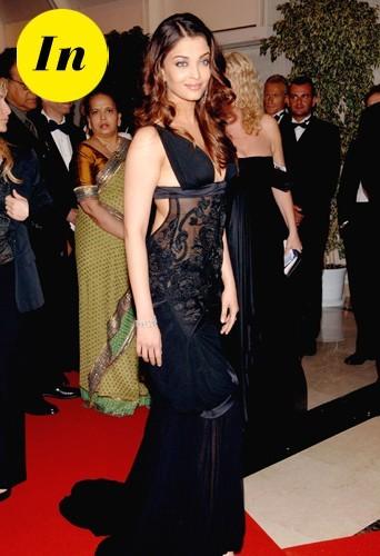 Aishwarya Rai en Gucci en 2005 à Cannes !