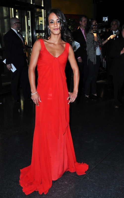 Superbe robe rouge drapée