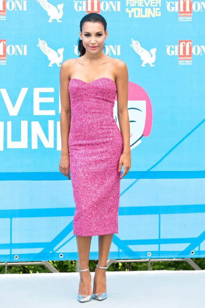 Naya Rivera et sa robe bustier MK