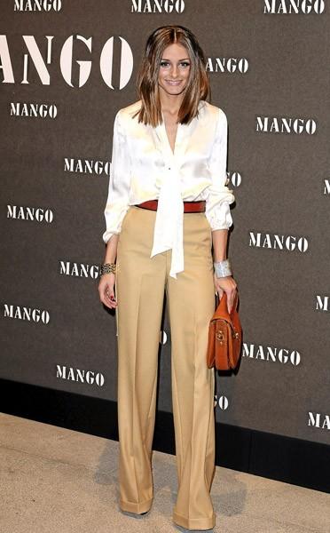 Look d'Olivia Palermo : une blouse Mango à 39€ !