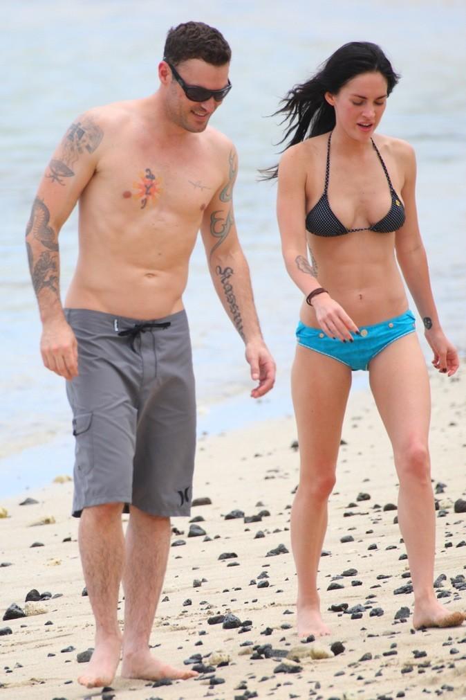 Megan Fox et Brian Austin Green à la plage !