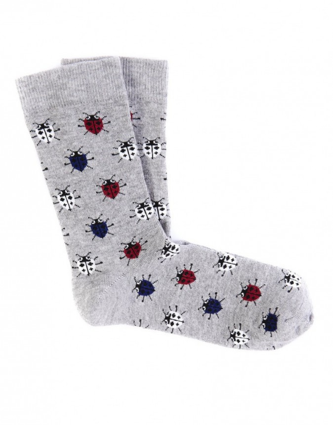 Chaussettes motif insectes, Pull&Bear, 3€