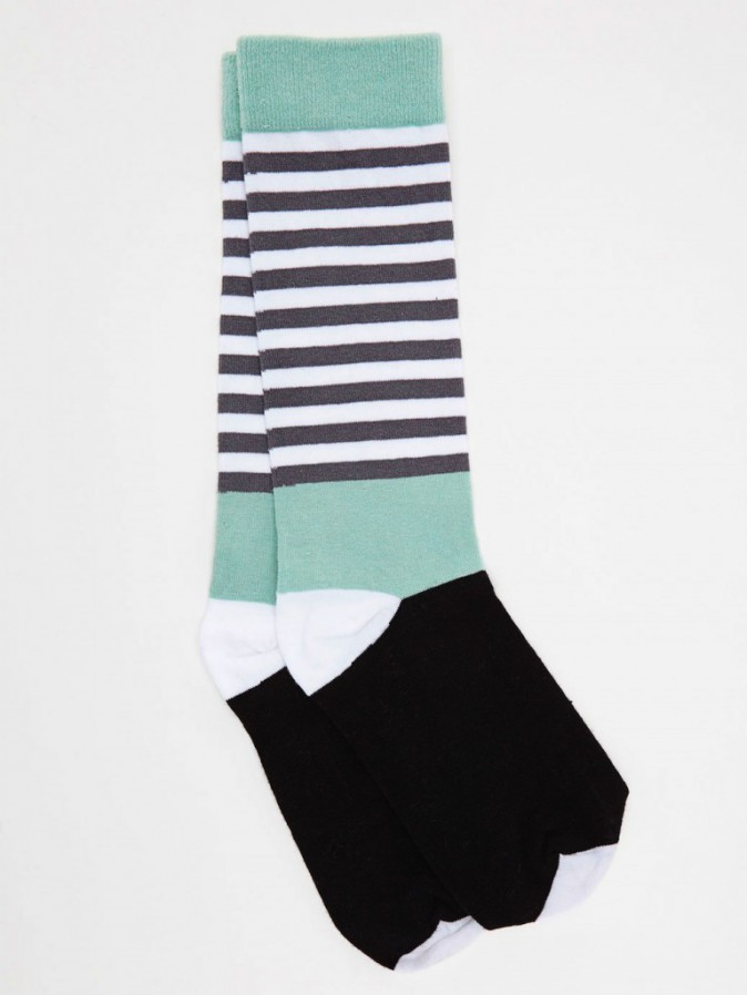 Chaussettes rayées, American Apparel, 14€