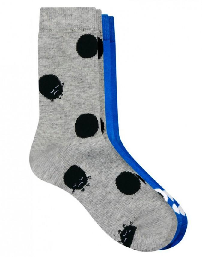 Deux paires de chaussettes à motifs, Monki, 6€