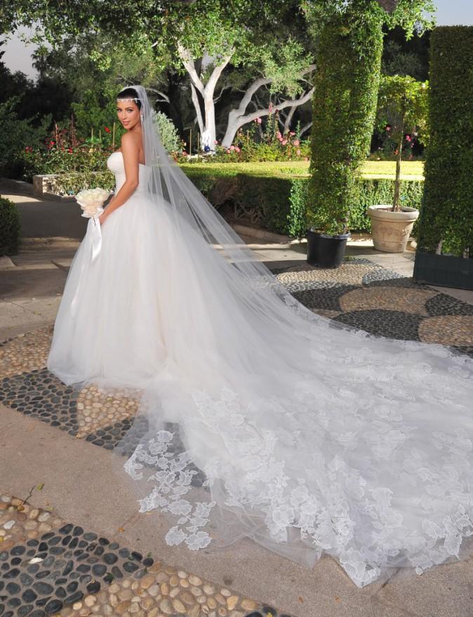 Kim Kardashian en Vera Wang pour son mariage avec Kris Humphries