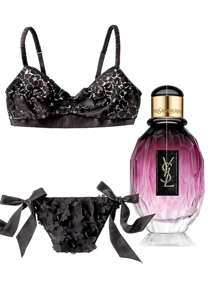 Ensemble charleston :  Undiz, 10,95 et 7,95 euros et Parisienne, l'essentiel, 50ml, Yves Saint Laurent, 84,90€