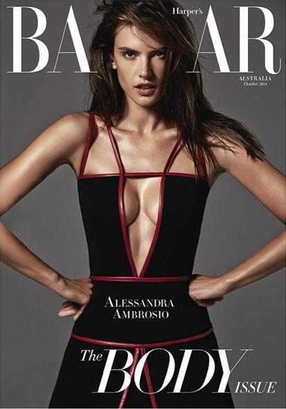 Alessandra Ambrosio pour Harper's Bazaar
