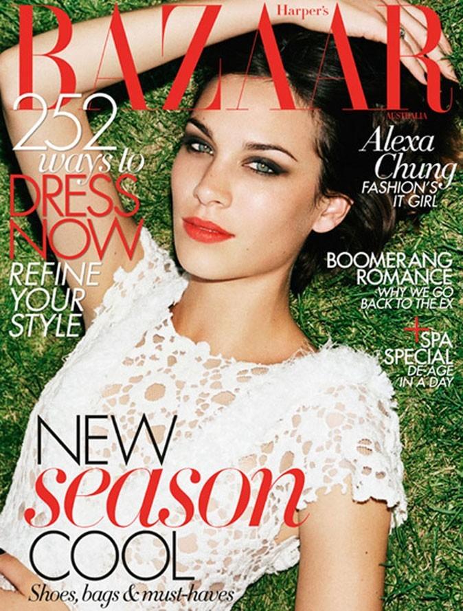 La couverture du mois d'Octobre d'Harper's Bazaar Australie !