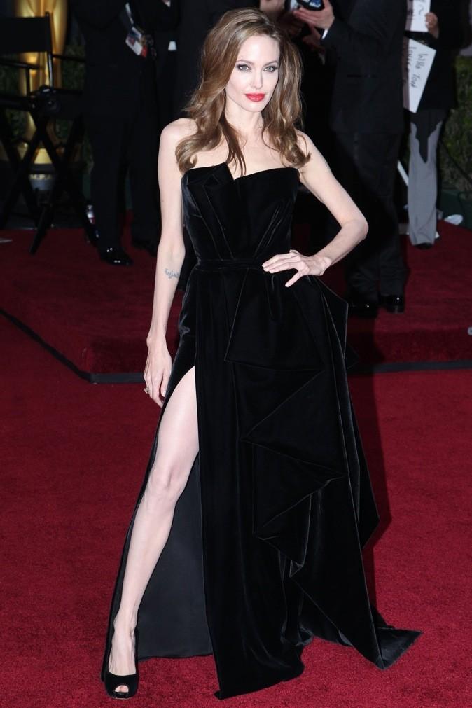 Février 2012 : Angelina Jolie à la cérémonie des Oscars