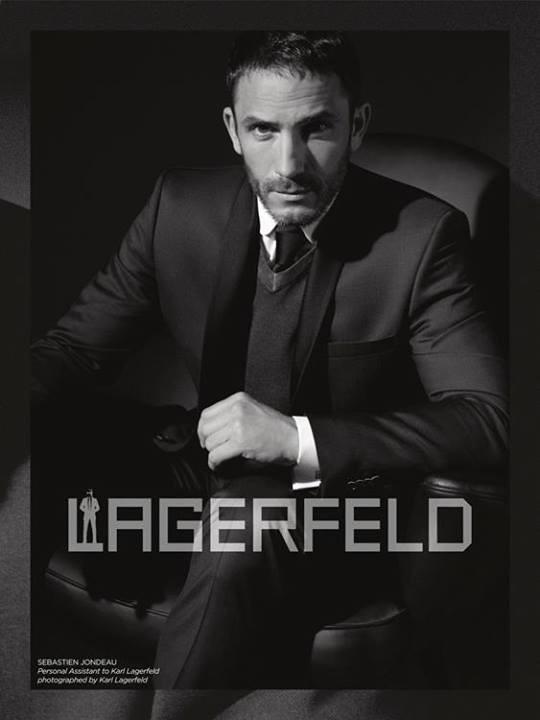 Sébastien Jondeau, égérie masculine de la campagne automne hiver 2013 Karl Lagerfeld !
