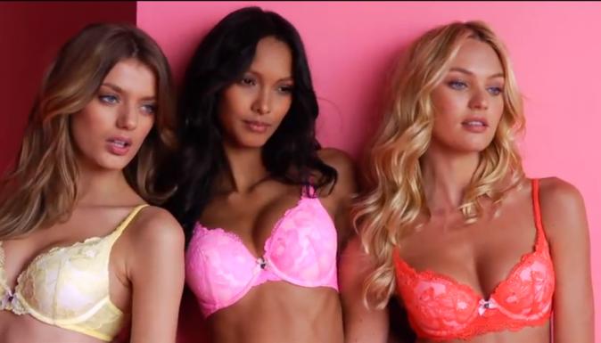 Candice Swanepoel, Lais Ribeiro et Bregje Heinen pour Victoria's Secret
