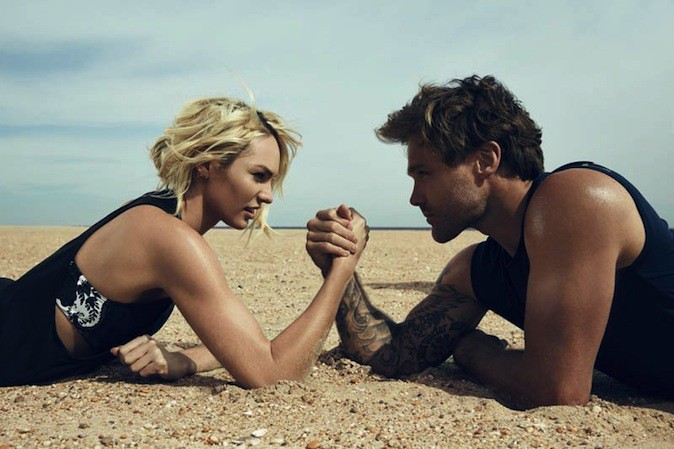 Candice Swanepoel et le rugbyman Nick Youngquest pour The Upside