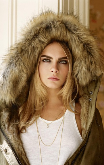 Cara Delevingne pour la campagne Automne/Hiver 2014-2015 de Topshop.