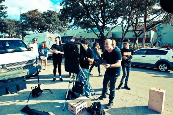 Backstage du shooting à Miami