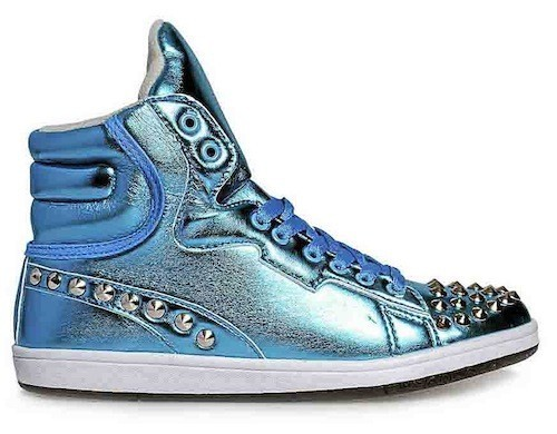 Seapunk : Baskets bleu argenté, Blue Banana sur bluebanana.com. 18 euros